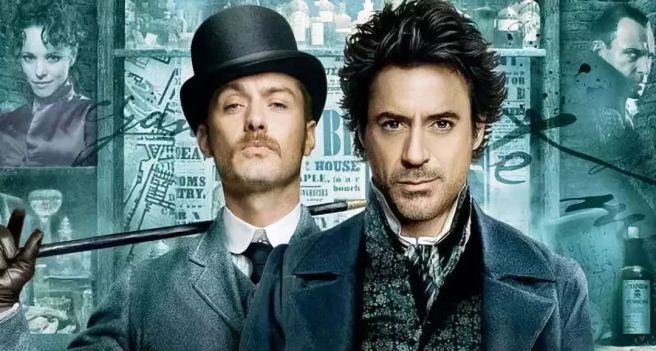 sherlock holmes guy ritchie robert downey jr jude law rachel mcadams mark strong poster hd review