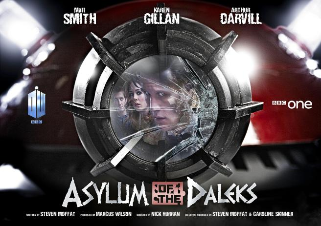 doctor who asylum of the daleks movie poster series 7a matt smith eleventh doctor steven moffat nick hurran