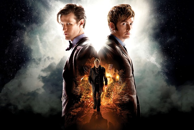 doctor who the day of the doctor review poster hd matt smith david tennant john hurt jenna coleman billie piper steven moffat nick hurran