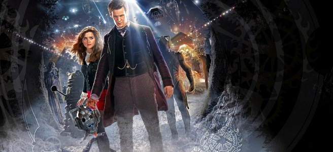 doctor who the time of the doctor review eleventh doctor matt smith clara oswald jenna coleman steven moffat silence daleks cybermen handles poster