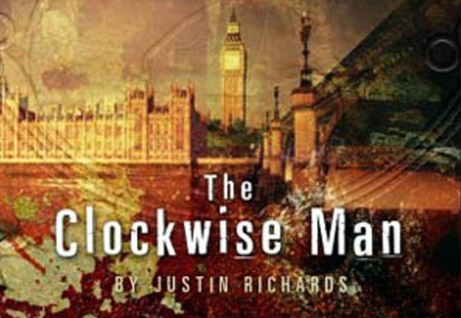 doctor who book review the clockwise man justin richards ninth doctor rose tyler black cat new series adventure cover