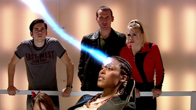 doctor who the long game review ninth doctor rose tyler adam mitchell info spike russell t davies brian grant bruno langley christopher eccleston billie piper