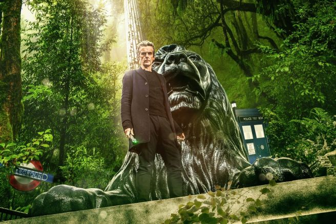 doctor who in the forest of the night frank cottrell boyce poster trees peter capaldi london forest lion trafalgar square science realism pseudo science