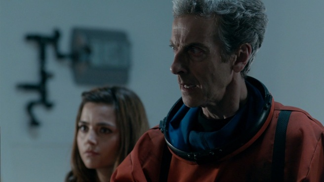 doctor who kill the moon review peter capaldi jenna coleman clara oswald orange space suit sanctuary base 6 peter harness paul wilmshurst