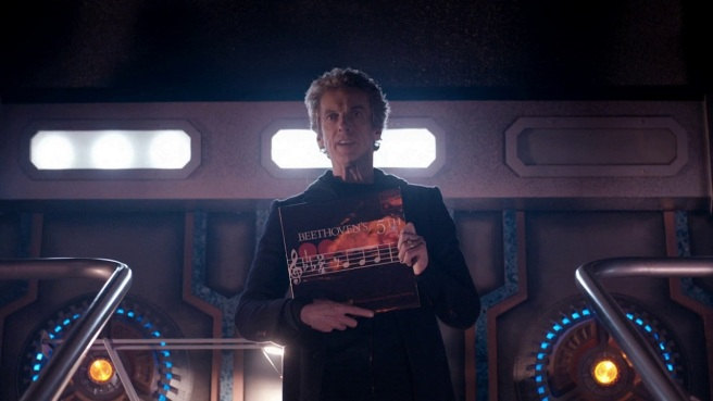 doctor who before the flood review peter capaldi twelfth doctor beethoven's fifth fourth wall break toby whithouse