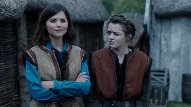 doctor who the girl who died review jenna coleman maisie williams ashildr clara oswald jamie mathieson ed bazalgette steven moffat