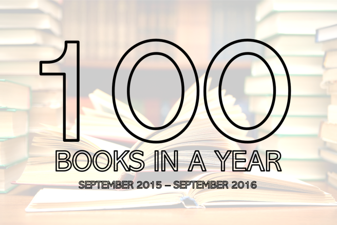 100 books in a year reading challenge summer marathon books novels september 2015 2016