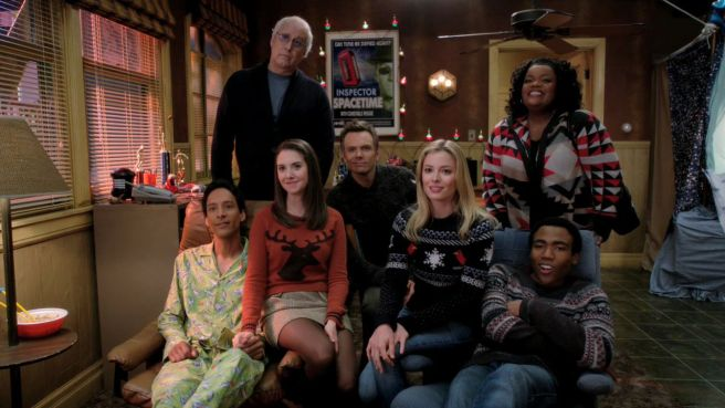 Community christmas special Regional Holiday Music greendale 7 flat pyjamas