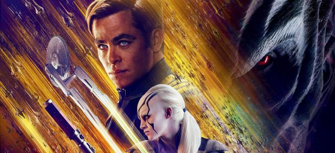 star trek beyond poster justin lin trailer sabotage yellow purple chris pine sofia boutella idris elba