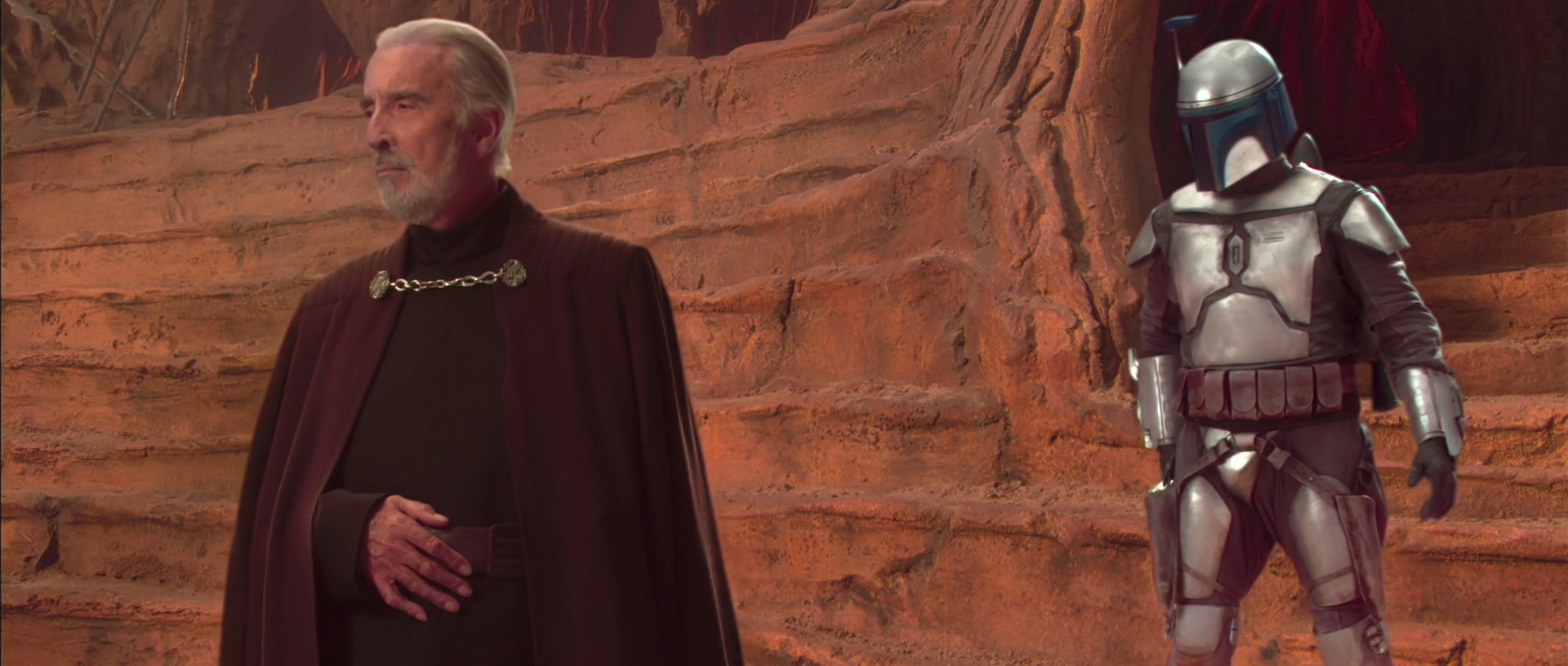 star wars attack of the clones christopher lee jango fett geonosis george lucas review retrospective