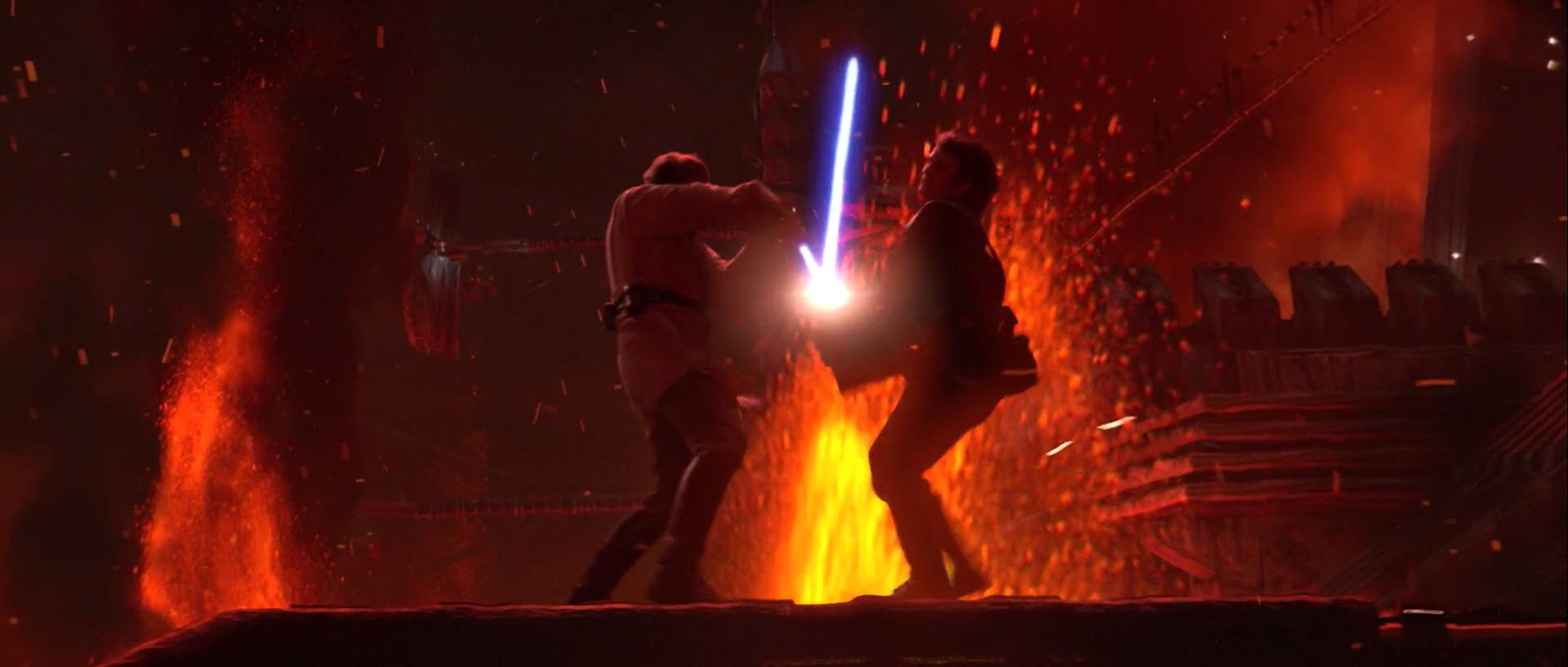 star wars revenge of the sith review retrospective obi wan kenobi anakin skywalker darth vader mustafar duel fight lava planet