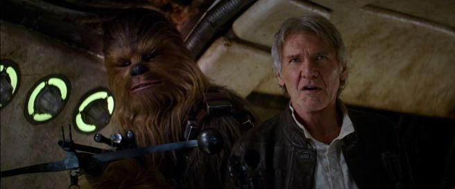 star wars the force awakens review han solo chewbacca milennium falcon harrison ford jj abrams peter mayhew joonas suomato