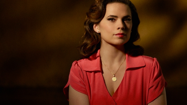 marvel agent carter hayley atwell review season 1 retrospective abc shield pink