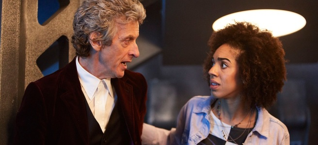 doctor who friend from the future bill potts pearl mackie announcement reaction doctor who series 10 the pilot prince jacket
