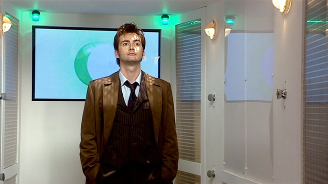 doctor who new earth review david tennant tenth doctor sisters of plenitude lift decontamination russell t davies james hawes lady cassandra