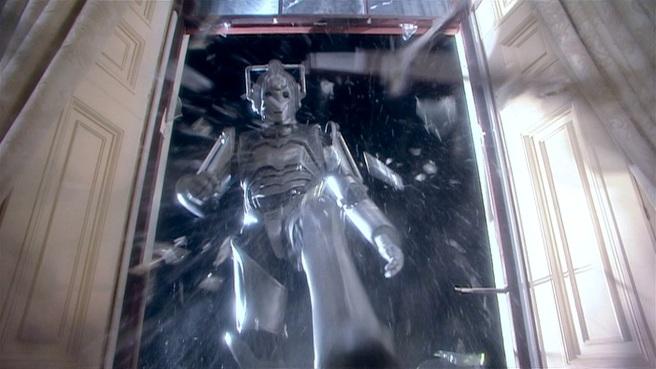 doctor who rise of the cybermen review tom macrae graeme harper cybermen crash window party glass breaks pete's world lumic president