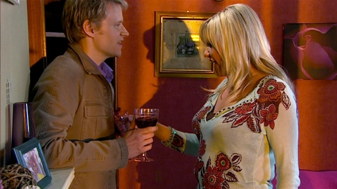 doctor who love and monsters elton pope marc warren jackie tyler camille coduri wine spill series 2 rose tyler dan zeff rtd