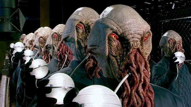 doctor who the impossible planet review ood legion of the beast possessed red eye slitheen rtd neil gorton matt jones