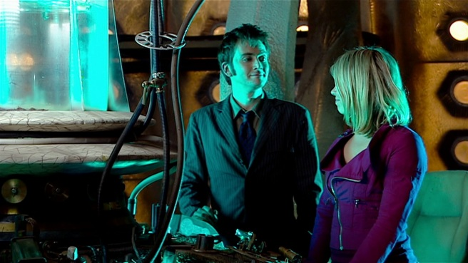 doctor who the satan pit review tenth doctor rose tyler the stuff of legend david tennant billie piper tardis together blue green