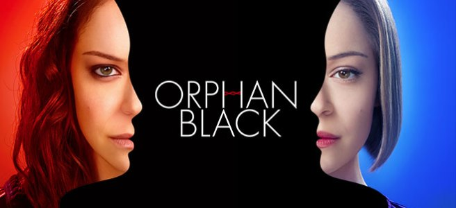 Orphan Black tatiana maslany red blue one of a kind poster faces optical illusion sarah rachel cosima allison