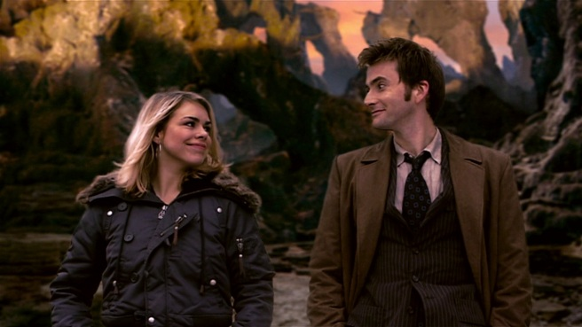 doctor who army of ghosts review rose tyler tenth doctor david tennant billie piper alien planet travel together forever russell t d