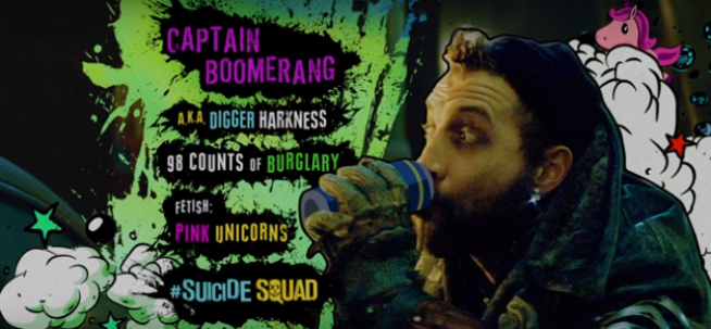 suicide squad captain boomerang jai courtney Pink Unicorn Fetish david ayer jared leto joker