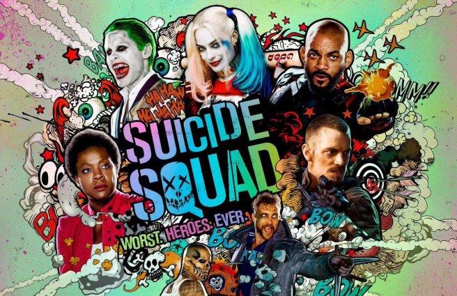 suicide squad poster worst heroes ever jared leto will smith margot robbie viola davies joel kinnaman cara delevigne david ayer