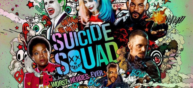 suicide squad poster worst heroes ever jared leto will smith margot robbie viola davies joel kinnaman cara delevigne david ayer