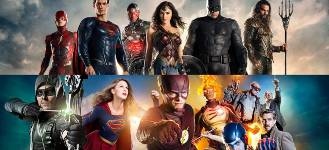 dc tv movies arrowverse dc expanded universe dc eu justice league zak snyder greg berlanti the flash supergirl arrow legends of tomorrow batman wonder woman aquaman cyborg