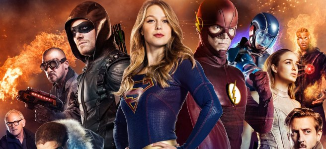 supergirl arrow the flash lefends of tomorrow heatwave firestorm the atom melissa benoist stephen amell grant gustin all shows the cw dc tv