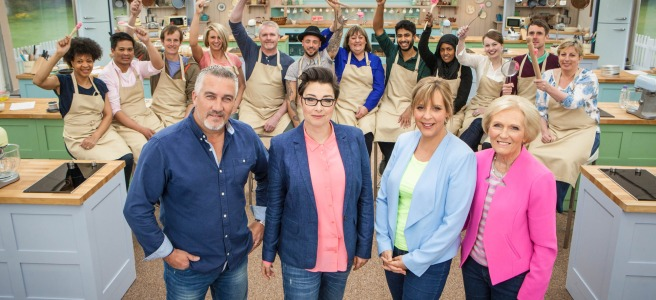 great british bake off baking show paul hollywood mary berry mel geidroyc sue perkins bbc one channel 4 prue leith sandi toksvig noel fielding love productions