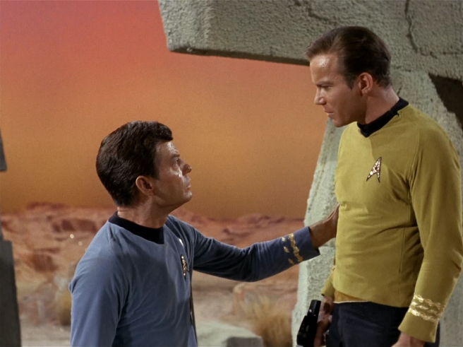 star trek mccoy bones kirk deforest kelley william shatner hd the man trap tos review