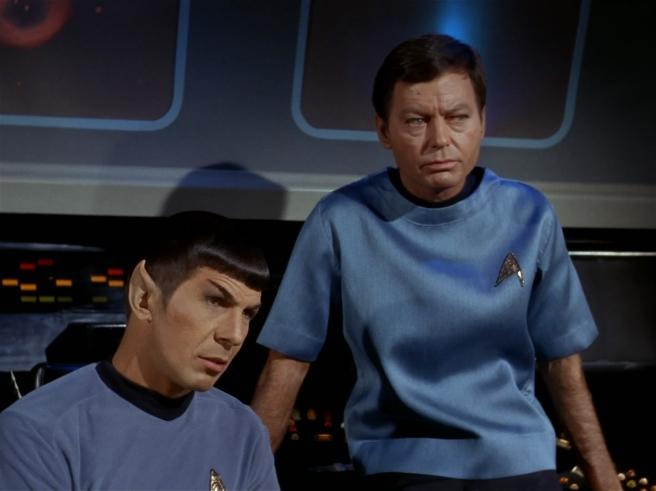 star trek the original series spock dr mccoy bones leonard nimoy deforest kelley spones spirk kirk trio