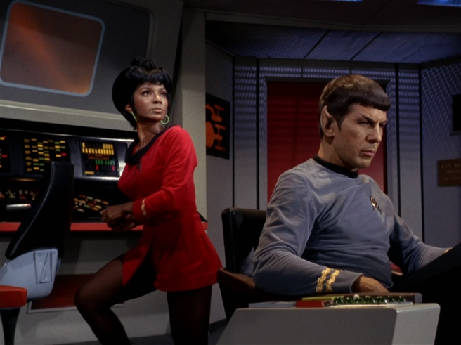 star trek tos uhua spock nichelle nichols leonard nimoy the man trap tos review hd bridge