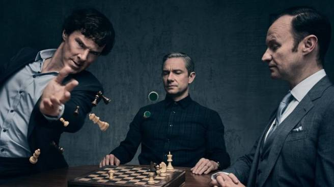 sherlock the final problem benedict cumberbatch martin freeman mark gatiss mycroft john watson holmes amanda abbington benjamin caron steven moffat chess