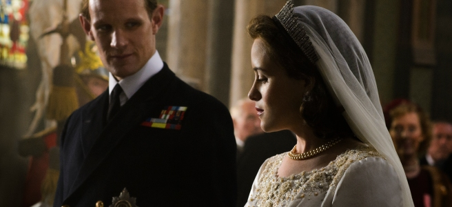the crown episode 1 wolferton splash matt smith claire foy royal wedding netflix peter morgan stephen daldry