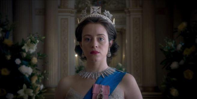 the crown gloriana elizabeth regina claire foy queen royals philip martin peter morgan review negative netflix