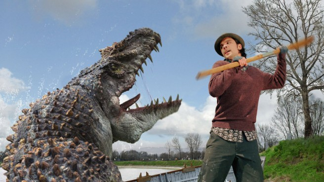 primeval connor temple itv mauosaur impossible pictures dinosaur episode three andrew lee potts