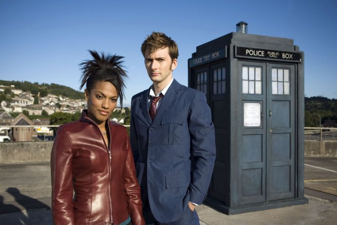 doctor who smith and jones martha jones freema agyeman casting companion announcement david tennant tenth doctor blue suit tardis roof royal hope