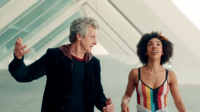 doctor who smile review twelfth doctor bill potts rainbow spain valencia city of arts and sciences frank cottrell boyce lawrence gough steven moffat