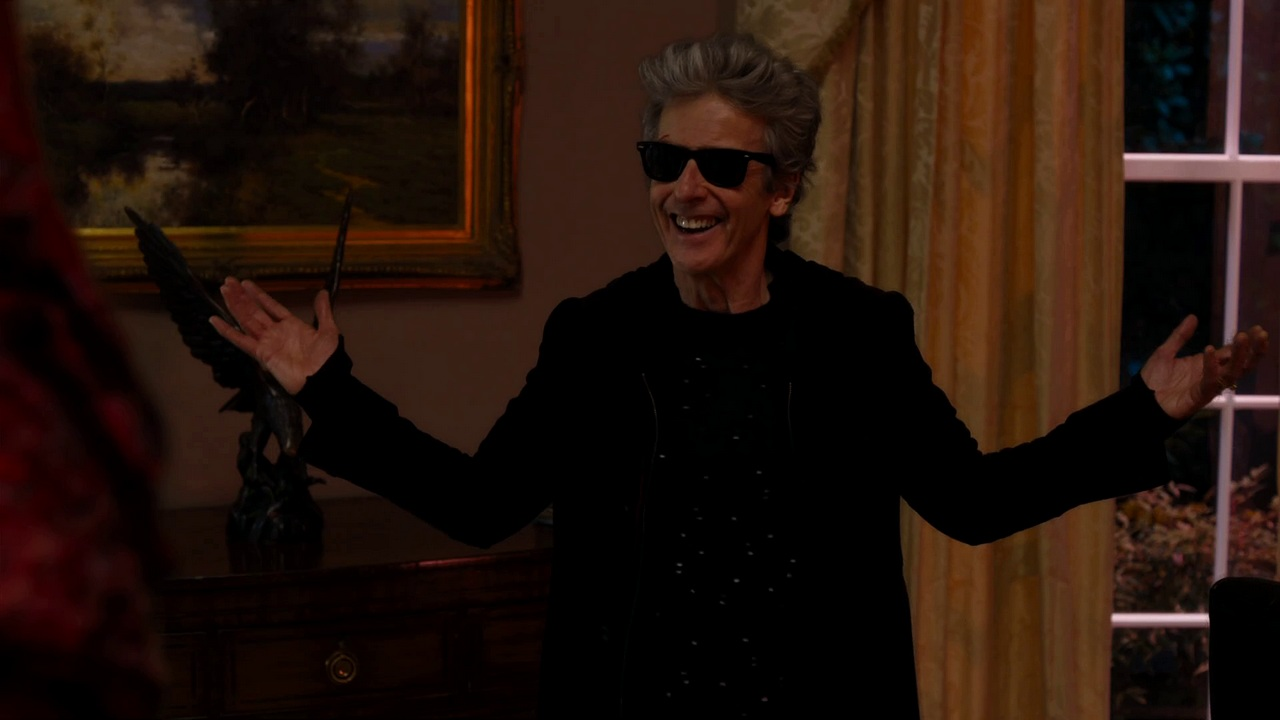 doctor who extremis review twelfth doctor peter capaldi sonic sunglasses monks steven moffat series 10 you don't have to be real to be the doctor