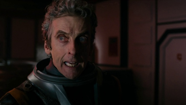 doctor who oxygen review jamie mathieson peter capaldi we're fighting the suits twelfth doctor blind spacesuit charles palmer steven moffat