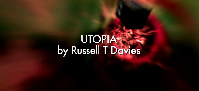 doctor who utopia review russell t davies time vortex tardis captain jack title sequence title card graeme harper