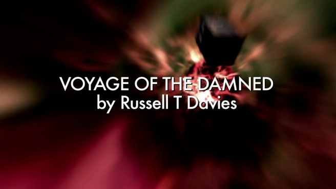 Voyage of Damned doctor who review russell t davies james strong title sequence titanic david tennant kylie minogue
