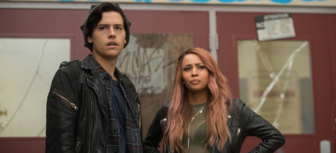riverdale season 2 the blackboard jungle southside serpents jughead cole sprouse toni topaz vanessa morgan tim hunter