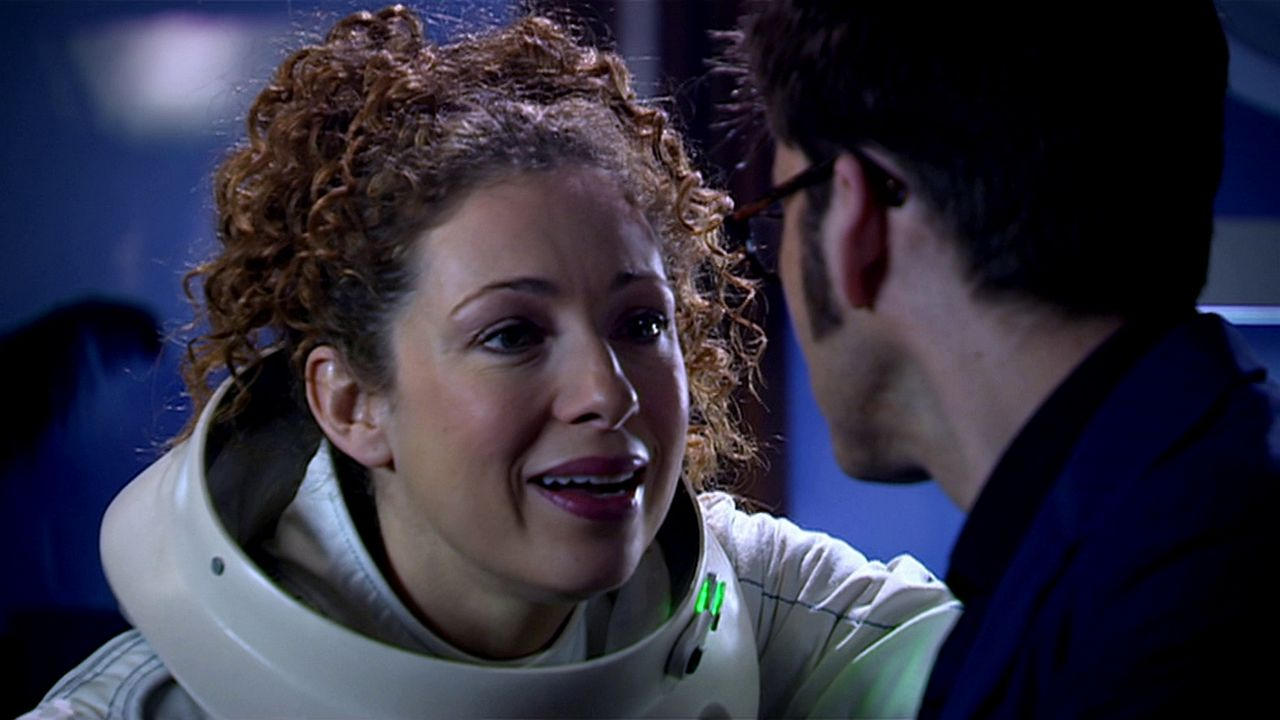 doctor who review silence in the library river song alex kingston tenth doctor david tennant meeting blue tardis diary euros lyn steven moffat