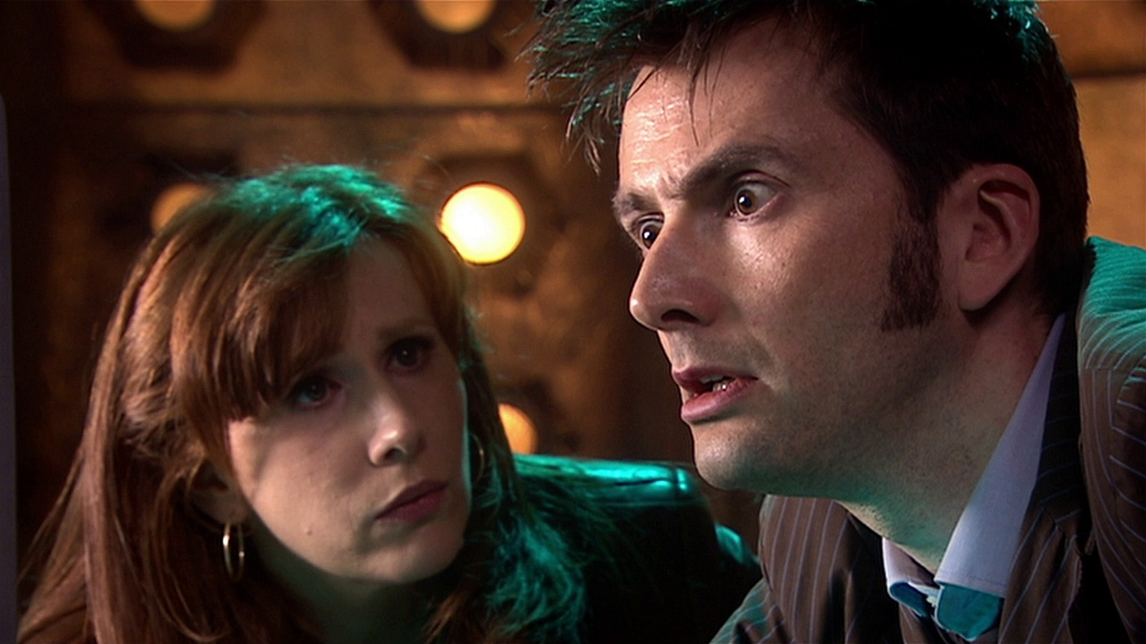 doctor who the stolen earth review tenth doctor david tennant donna noble catherine tate tardis medusa cascade subwave network facebook russell t davies