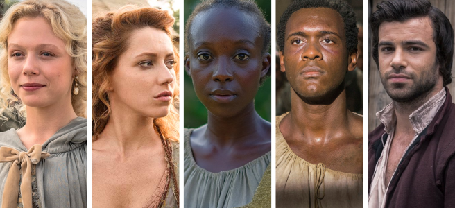 jamestown season 2 interview sky atlantic jocelyn naomi battrick meredith niamh walsh dr priestly ben starr pedro abubakar salim maria abiola ogunbiyi bill gallagher interview hd