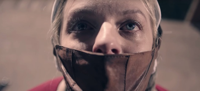 the handmaid's tale season 2 elisabeth moss june offred trailer mouth muzzle darker tone did it go too far hulu channel 4