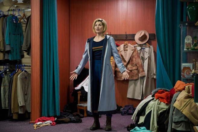 doctor who the woman who fell to earth review jodie whittaker thirteenth doctor outfit charity shop sheffield chris chibnall
